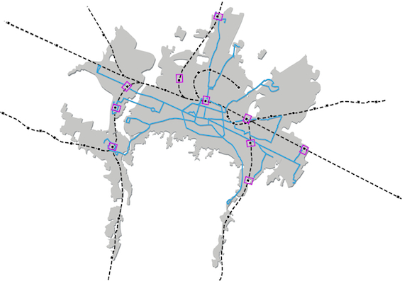 Sfm Subway Map.Metropolitan Area Public Mobility